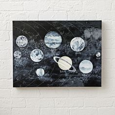 Shop Watercolor Solar System & Space Wall Art.  Explore the solar system like never before, thanks to this outer space themed wall art, featuring a cosmic, watercolor design.