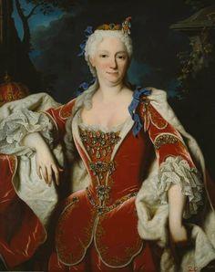 """Jean RANC, """"Retrato de Doña Isabel Farnese, Princesa Hereditariade Parma, Reina consorte de las Españas y de las Indias (1692-1766)..."""