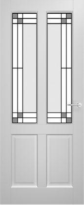 2adore binnendeur Amaryllis met glas-in-lood Vanille 12 jaar garantie