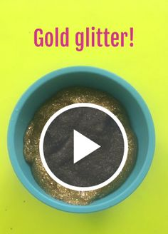 This Gold Glitter Slime Recipe is Everything Amazing