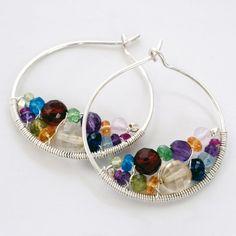 Bejeweled Hoop Earrings Tutorial