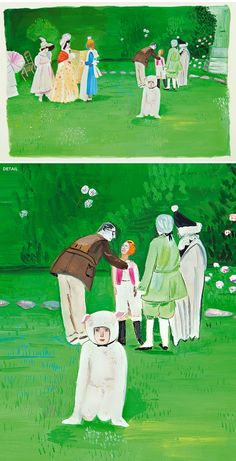"Maira Kalman & Daniel Handler - from ""Girls Standing on Lawns"" Book"