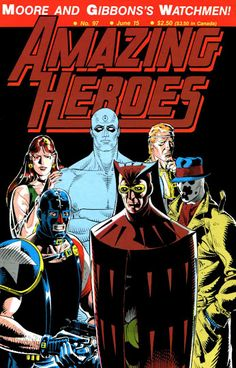 Amazing Heroes Watchmen cover by Dave Gibbons Comic Book Panels, Comic Book Covers, Comic Books Art, Show Me A Hero, Silk Spectre, Dave Gibbons, Tumblr, Detective Comics, Dc Comics