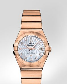 OMEGA Watches: Constellation Brushed Chronometer - Red gold on red gold - 123.50.27.20.55.001