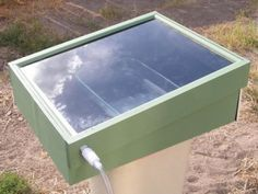 How To Build A Solar-Powered Still To Distill Drinking Water, even from sea water. Use GLASS, not plastic for the cover. Enough plastics give off carcinogenic chemicals at high temperatures, glass doesn't!