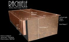 Patented design allows installation of apron farm sink in existing cabinets. http://www.rachiele.com/copper_apron_sinks_with-patent.asp