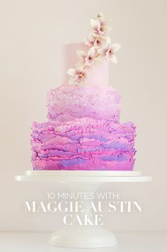 Check out our interview with Maggie Austin Cake and get wedding cake inspiration from those artistic cakes. #maggieaustincake