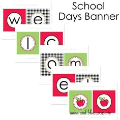 Welcome School Banner @anna and blue paperie