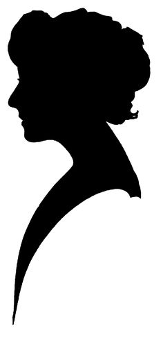Old Fashion Silhouette Clip Art | Free Silhouette Clipart - Vintage Women | Call Me Victorian