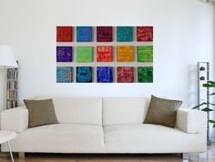 Textured Wood Wall Sculpture Large Abstract Art Modern Decor Contemporary Multi Panel