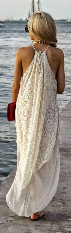 Stlye Me Hip: White Lace Sleeveless Maxi Dress | Spring / Summer...