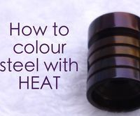 How to colour steel with heat (hot oil finish) is a simple but effective way of achieving a desired colour of choice.The colours are fantastic and often come out in a beautiful two-tone shine. There is something really rewarding about this technique. Not only does it give you an alchemical feeling of satisfactionbut it also gives the metal a finish to stop corrosion.
