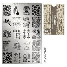 "MOYRA Stamping plate "" VINTAGE"" High quality Nail Stamping plate * Check out this great product. (This is an affiliate link and I receive a commission for the sales) Nail Art Stamping Plates, Nail Plate, Foil Stamping, Vintage Nail Art, Quill And Ink, Special Nails, Latest Nail Art, Nail Art Supplies, Nail Supply"
