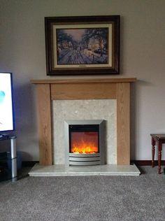 Oak Fire Surround, Wooden Fireplace Surround, Fireplace Surrounds, Granite Hearth, Marble Hearth, Inset Stoves, Oak Mantel, Mantel Mirrors, Electric Fires