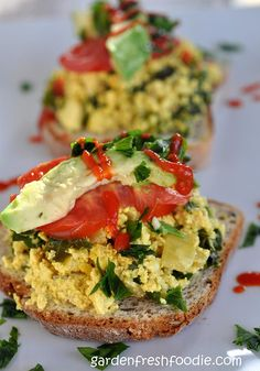 Garden Fresh Tofu Scramble with Kale  Healthful Aspects – Tofu is a versatile soy product with a range of health benefits. It is an excellent source of protein, iron, calcium and other micronutrients. It contains all the essential amino acids required by the body to promote growth and development. Isoflavones present in tofu have direct and indirect antioxidant effects and they help to neutralize the damage caused by free radicals and prevent premature aging. It is good source..