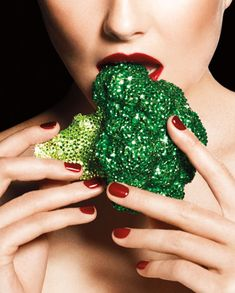 Vegan Vanity   Eat your broccoli. Pavé broccoli, custom-made by Noir Jewelry.    Read more: Vegan Diet - Vegan Diet August 2012 - Harper's BAZAAR