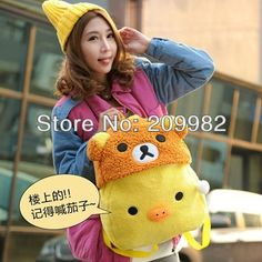 Cheap backpack handbag, Buy Quality bags and backpacks directly from China bag women Suppliers: Item Name: New Fashion Little Bear Rilakkuma Chick Simsimi Plush Backpack BagSize: Main Body:42*36cmType: 1 typ