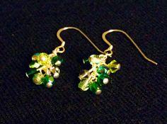 Emerald City Earrings  Green Swarovski by HabibiShabibiDesigns