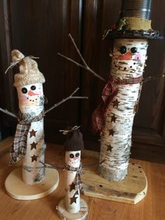 Birch Snowmen