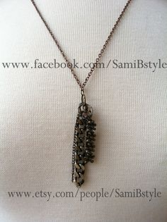#necklace #upcycled #jewelry #tassel