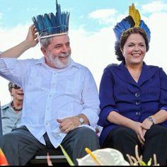 Lula e Dilma, Amazonas, Brasil.
