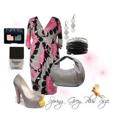 Spring Grey, Plus Size, created by redheaded-diva