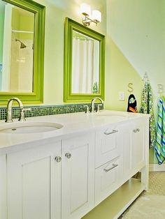 Contemporary Bathrooms from Judith Balis on HGTV