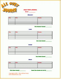 printable food log easy way to keep up with daily calorie intake