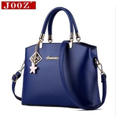24.39$ Buy now - http://alibv6.shopchina.info/go.php?t=32689133542 - JOOZ 2017 New Women Handbags Famous Brands Women Messenger Bag With Brand Pendant PU Leather Handbags large Crossbody Bag #magazineonlinebeautiful