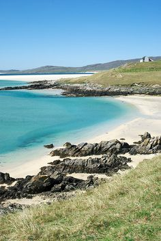 Luskentyre, Isle of Harris, Outer Hebrides, Scotland. Would love a trip to the Outer Hebrides. Need to do a bit of island hopping Places To Travel, Places To See, The Places Youll Go, Most Beautiful Beaches, Beautiful Places, Isle Of Harris, Scotland Travel, Scotland Beach, Scotland Uk