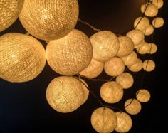 Custom listing - KC 100 Bulbs White Cotton ball string lights for Patio,Wedding,Party and Decoration