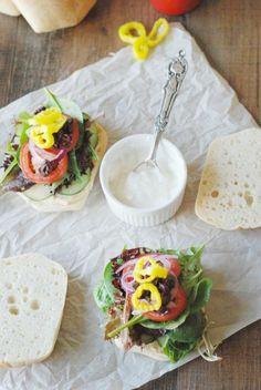 Greek Veggie Sandwich with Greek Yogurt Tzatziki Sauce