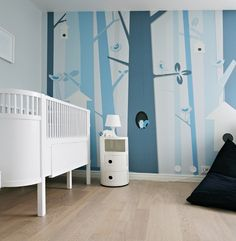 nursery blue trees