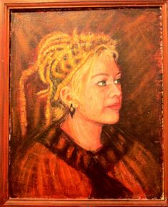 Portrait of Nina - Geoff Van Chuff    Framed oil on canvas  51 x 61  SOLD