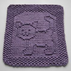 Free+Knitting+Pattern+-+Dishcloths+&+Washcloths+:+Purrfect+Cat+Dishcloth