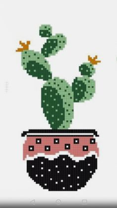 Cute Crafts, Crafts To Make, Cactus, Fair Isles, Cross Stitch Rose, Embroidery, How To Make, Cross Stitch Kitchen, Monogram Alphabet