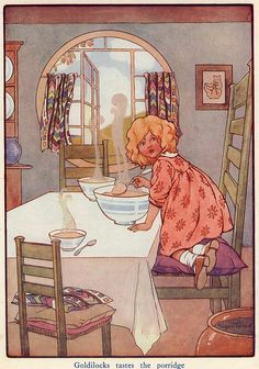 Goldilocks  By Margaret Tarrant .Early 20th Century