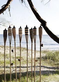 Garden Torches - Set of 4 House Near Water, Rockett St George, Garden Solutions, Ibiza Wedding, Bohemian Wedding Decorations, Night Garden, Ibiza Fashion, Beach Gardens, Party Props