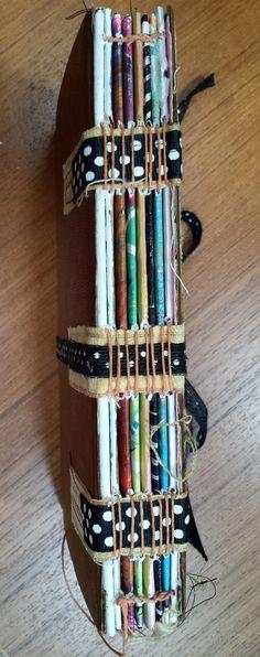 Scrappy Journal #30. Sewn Tape Binding (from Mary Ann Moss class Full Tilt Boogie)