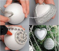 una idea facil para hacer tus propios adornos navideos de mujerdiaria