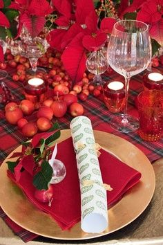 christmas entertaning table - Google Search