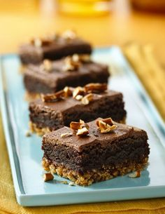 Layer brownies on top of a crunchy pretzel crust for the delicious, sweet-and-salty treat. Scratch chocolate frosting is the perfect finishing touch!