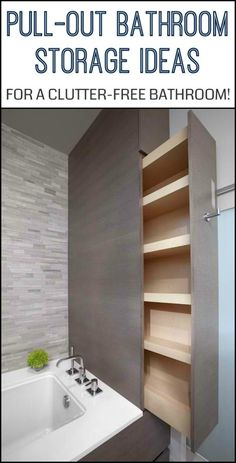 Free Your Bathroom of Clutter by Building a Pull-Out Bathroom Storage!
