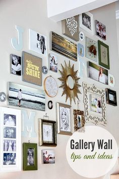 Design a gallery wall with these tips and ideas for your home.
