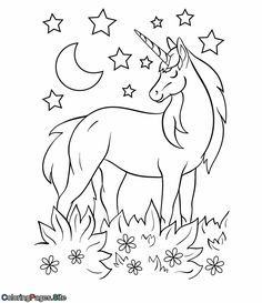 My First Unicorn Coloring Book. Perfect entertainment for your little ones,keep them coloring for hours with this Coloring Book with 31 Unicorn drawings! Unicorn Coloring Book for Kids Heart Coloring Pages, Unicorn Coloring Pages, Horse Coloring Pages, Fairy Coloring Pages, Online Coloring Pages, Coloring Pages For Kids, Coloring Books, Kids Coloring, Adult Coloring