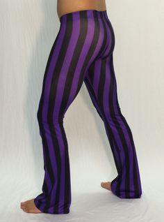Purple & Black Striped Circus Flare Pants // by RevolverFashion