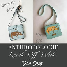 Anthropologie Knock-off Rhino Crossbody Bag
