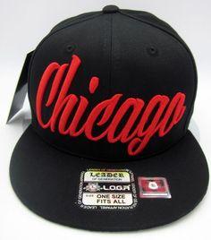 ec1e2f03 CHICAGO City Snapback Cap Hat Bulls Air Jordan DRose Caps Hats Black LEADER  NWT in Clothing