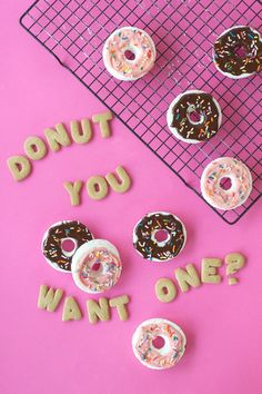Donut Marshmallows for Parties and National Donut Day Diy Donuts, Cute Donuts, Donuts Donuts, Donut Quotes, Marshmallows, Doughnut Shop, Pastel Cupcakes, Cookie Table, Donut Decorations