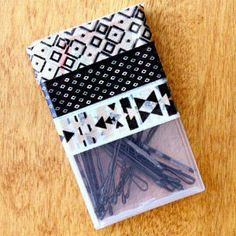 DIY This Cute Box For Bobby Pins: If you're like us it can be so hard to keep track of bobby pins—especially when you travel. This simple upcycling project is sure to keep your bobby pins together and do it in style!